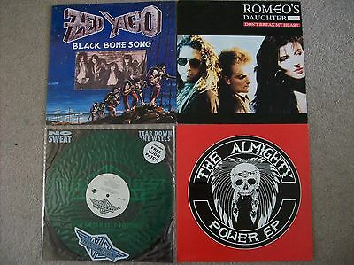 "4 X 12"" Vinyl Bundle, Zed Yago, Romeo's Daughter, The Almighty, No Sweat + Patch"