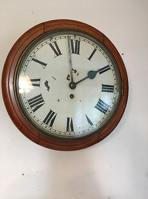Vintage English Gallery Or Pub Style Clock Coventry Astral Faux Fusee Style
