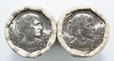U.S. 1979 S&D Susan B. Anthony Dollars *Two Bank Rolls* (40 Coins) [ID:D526]