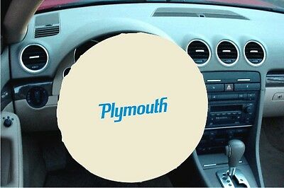 WHITE 100% Micro Fiber PLYMOUTH Stretchable Steering Wheel Cover