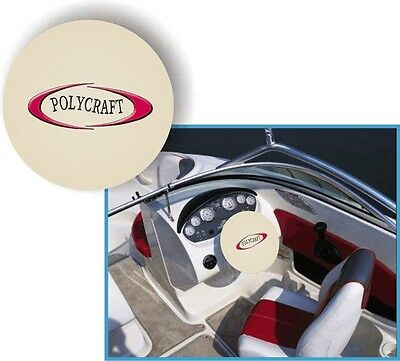WHITE 100% Micro Fiber POLYCRAFT BOATS Stretchable Steering Wheel Cover