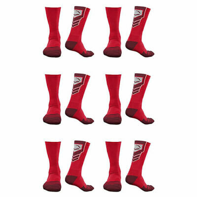 EvoShield Performance Crew Socks (Red / X-Large / 6 Pack)
