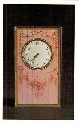 Russian CARD: ENAMELED CLOCK WITH PEARLS by Carl Faberge Firm