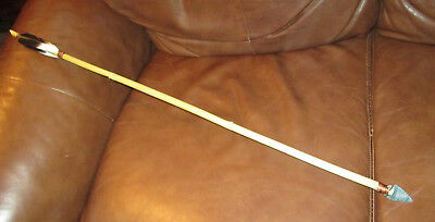 Eastern Cherokee Indian Cane Arrow, 2 Feather Fletching, Artist Stan Tooni