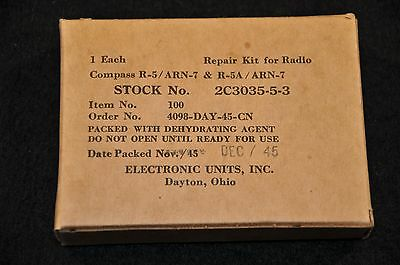 WW2 USAAF Repair Kit for Radio Compass R-5 / ARN-7; sealed unissued condition