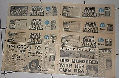 Scottish Daily News , Newspapers, 1975 , First Issues # 1 , 2 , 3 & More