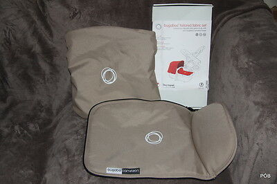 Rare Discontinued Bugaboo Cameleon3 Sand Canvas Tailored Fabric Set Hood + Apron