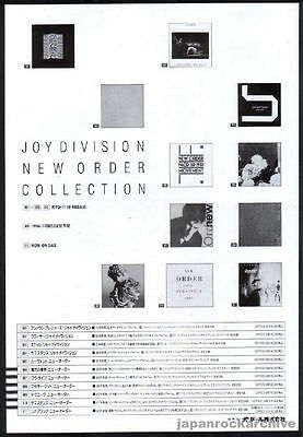 1993 Joy Division New Order Collection JAPAN promo ad / mini poster advert n12r