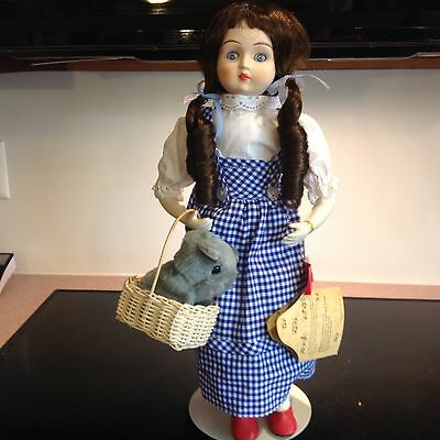 """Seymour Mann MUSICAL DOROTHY FROM WIZARD OF OZ, porcelain doll 18"""" NEW Red Shoes"""