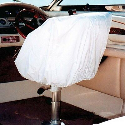 Taylor Made Marine Boat Helm/Bucket Seat White Vinyl Storage Cover