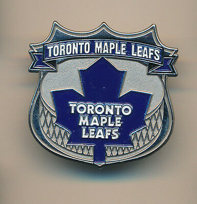 Toronto Maple Leafs Logo On Shield Pin