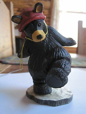 "Big Sky Carvers Bearfoots Bears Holiday stocking Hat ""NICKY "" CABIN Collectible"