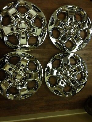 """4-Ford Fusion 17"""" Hubcaps Hub caps Wheelcovers Chrome 2010 2011 2012 wheel cover"""