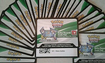 PTCGO Pokemon Online 30x XY FATES COLLIDE SET Unused Card Pack Code - Typed Out