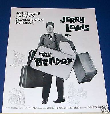 1960 Jerry Lewis THE BELLBOY Movie Ad