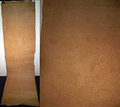 Victorian W Scott Mortons Tynecastle Canvas Linen Embossed Fabric Wallpaper Roll