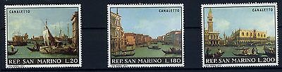 San Marino 1971 Canaletto stamps set MNH