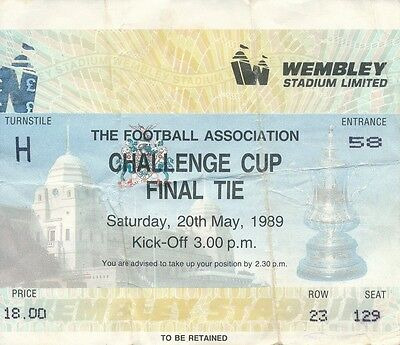 TICKET: FA CUP FINAL 1989 Liverpool v Everton