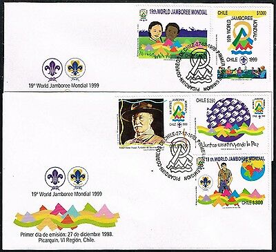 Chile 1998 Fdc Cover Stamp # 1929/33 Jamboree Boy Scouts