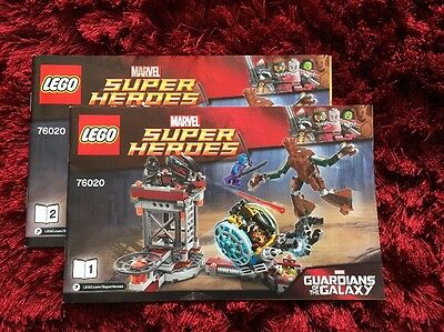 Lego Instruction Booklets Manual For Marvel Guardians Of The Galaxy Set 76020
