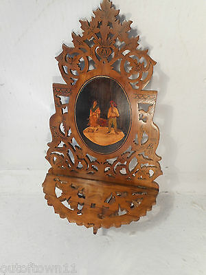Vintage inlaid Sorrento Ware Folding Shelf  ,    ref 1347 21/2eb/an/kx
