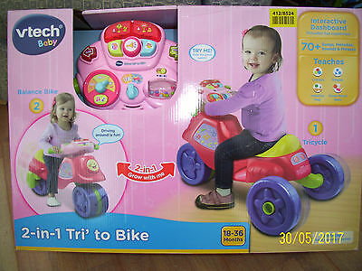 Vtech 2 In 1 Trike To Bike With Over 70 Tunes, Sounds And Phrases.