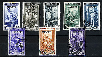 YUGOSLAVIA TRIESTE 1950 Overprinted AMG-FTT on ITALY Issues SG 176 to SG 189 VFU