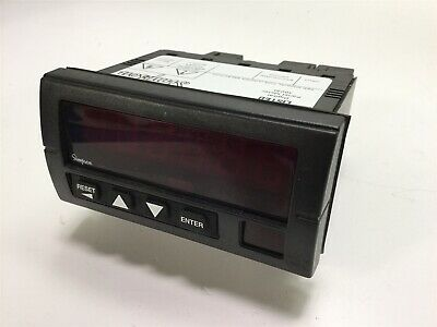 Simpson S66011010 Digital Preset/Totalizer Counter, 120/240VAC, 12VDC Excitation