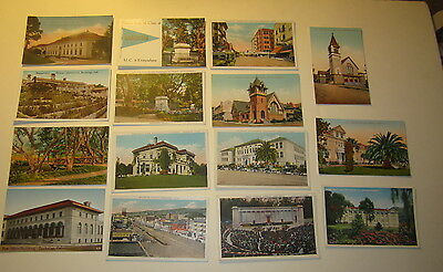 Lot of 15 Old Vintage 1910's - 1920's - BERKELEY - CALIFORNIA POSTCARDS