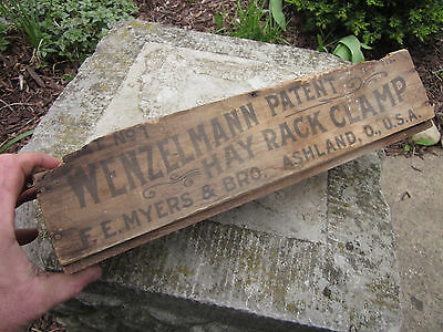 Vintage FE Myer hay Trolley Hay Trolley Rack Clamp Crate Small box Wenzelmann