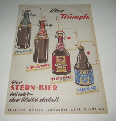Old STERN BEER - Four Trumps - ACES / Playing Cards - Advertising POSTER / Sign