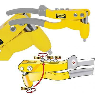 Stanley Fixed Head Riveter Contractors 6-MR100 3mm 4mm 5mm Rivet Gun Riveting