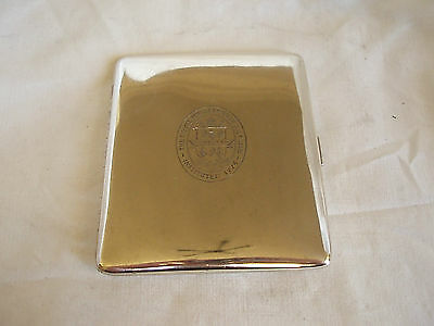 Royal Musselburgh Gc Cig Case Sterling Silver Birmingham 1932