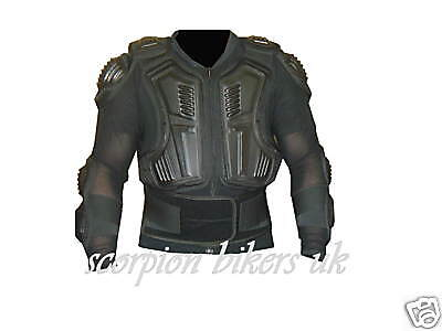 Motorcycle Motocross Body Armour Back Spine Protector L