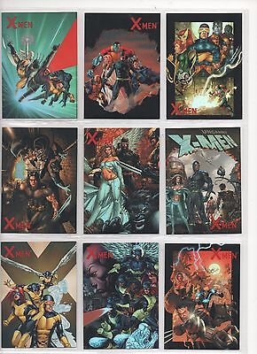 "X-Men Archives - ""cover Gallery Ready For Action"" Set Of 9 Chase Cards #ca1-9"