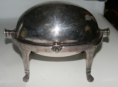 Silverplate Butter Dish With Flip Lid, Very Old, Very Nice