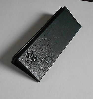 Black Leather fold-up  spectacle/glasses  case New!