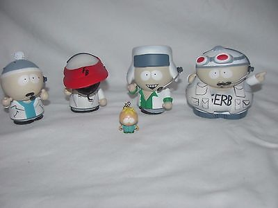 South Park FINGER BANG BOY BAND Set of 4 Stan,Cartman,Kenny,Klye ACTION FIGURE