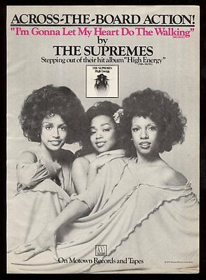 1976 The Supremes photo High Energy album release BIG Motown trade print ad