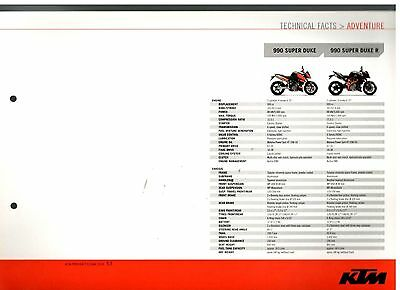 KTM Super Duke Adventure Range Technical Facts Motorcycle Brochure 2006 7615E