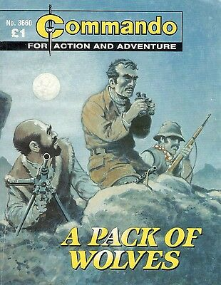 2003 No 3660 85190 Commando Comic  A PACK OF WOLVES