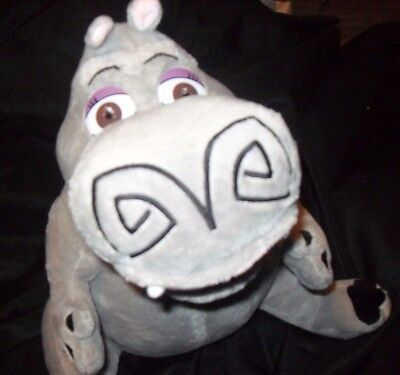 "Plush Beanie Russ Stuffed Madagascar Character Hippo Gloria Medium 15"" EUC  #3"