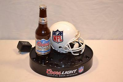 COORS Light Beer Official NFL Football Lighted LED Store / Bar Display