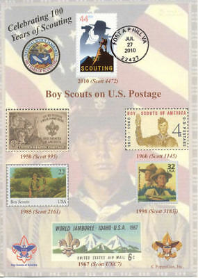 "BOY SCOUTS: Celebrating 100 Years of SCOUTING 5"" x 7"" First Day Cover"