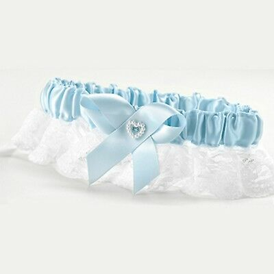 Wedding Garter Blue Full Figured Bridal Bride Accessory Lace