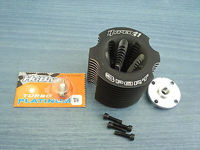 NITRO 1/8 RC  BUGGY HOBAO HYPER 21 3 PORT 3.5cc ENGINE CYLINDER HEAD