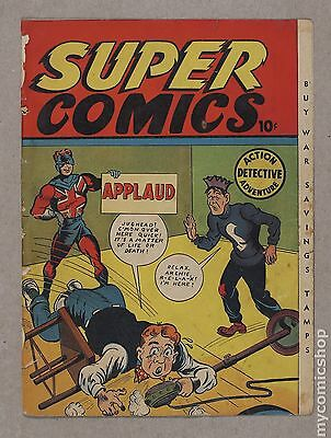 Super Comics (1943 F.E. Howard Publications) 2 Front and Back Cover Only