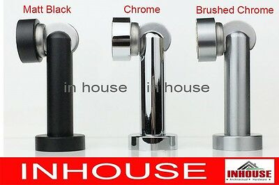Magnetic Wall,Floor mounted door stops,holder,catch-Satin,Chrome,Matt black