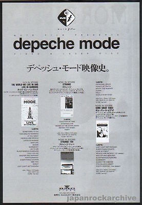 1993 Depeche Mode JAPAN video & ld release promo ad / mini poster advert d10r
