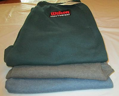 100 Pair Wilson Sweat Pants S L 2XL 2 Side Pockets Elastic Draw String 50/50